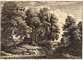 Wenceslas Hollar - The shepherd in the wood (Jacques van Artois) (State 2).jpg
