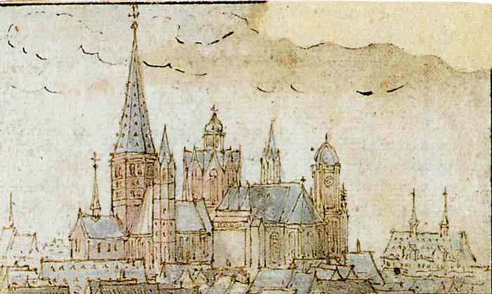 Wenzel Hollar Mainzer Dom 1632