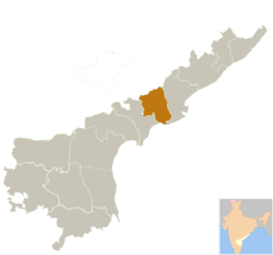 Location of West Godavari district district in Andhra Pradesh