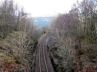 Glen Douglas Halt railway station Disused railway station in Argyll and Bute, Scotland