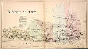 Watervliet, New York - West Troy in 1866