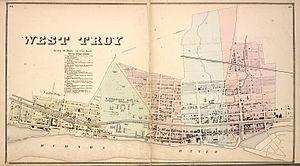 Watervliet, New York - West Troy in 1866