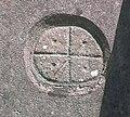 Wheel Cross at Llanllawer Church - geograph.org.uk - 946959.jpg