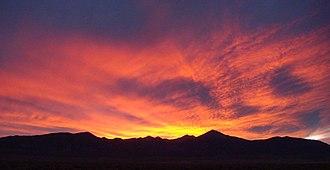 Snake Range - Wheeler Peak and the southern Snake Range at sunset
