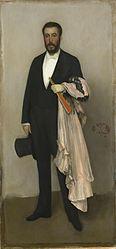 James McNeill Whistler: Arrangement in Flesh Colour and Black: Portrait of Theodore Duret