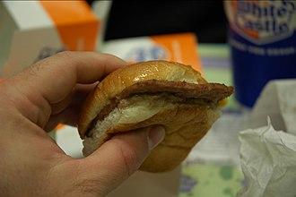 White Castle (restaurant) - The signature hamburger
