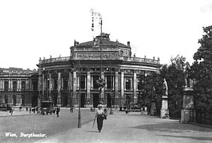 Baron Karl von Hasenauer - The Burgtheater in Vienna, shortly after its completion, built by Karl von Hasenauer