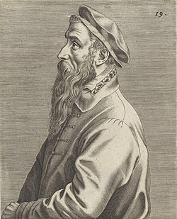 Wierix, Johannes (attributed to) - Portrait of Pieter Brueghel (I) - 1572 - RP-P-1907-593 cropped.jpg