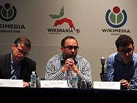 Wikimanía 2015 - Day 2 - Press Conference - LMM - México D.F. (15).jpg