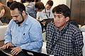 Wikimania 2009 - Pedro & Erlan.jpg