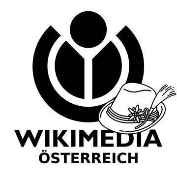 Wikimedia Österreich logo black mit Hut.png