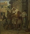 Wilhelm Marstrand - A Stout Roman Woman Being Helped onto a Donkey - KMS3447 - Statens Museum for Kunst.jpg