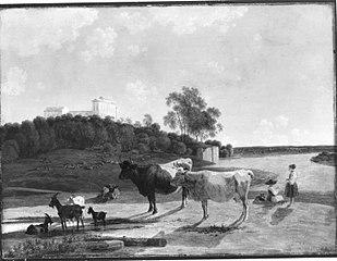 Isartal mit Schloss Harlaching