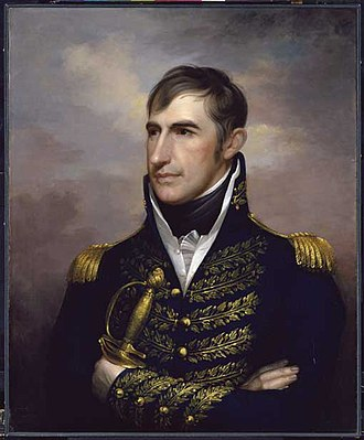 Battle of Frenchtown - Maj Gen William Harrison (pictured) told Brig Gen James Winchester to hold his ground following the first battle. Harrison and his troops did not arrive in time to participate in the battle.