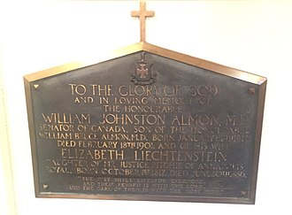 William Johnston Almon - Image: William Johnston Almon, St. Paul's Church, Halifax, Nova Scotia
