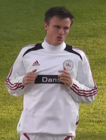 William Kvist Playing For Denmark