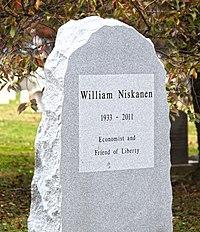 William Niskanen - Congressional Cemetery - Washington DC - 2012 (8175664121).jpg
