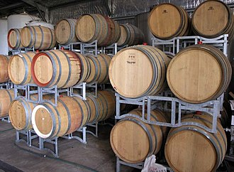 Phenolic content in wine - Phenolic compounds like tannins and vanillin can be extracted from aging in oak wine barrels.