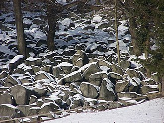 Odenwald - Felsenmeer near Reichenbach (Lautertal) in winter
