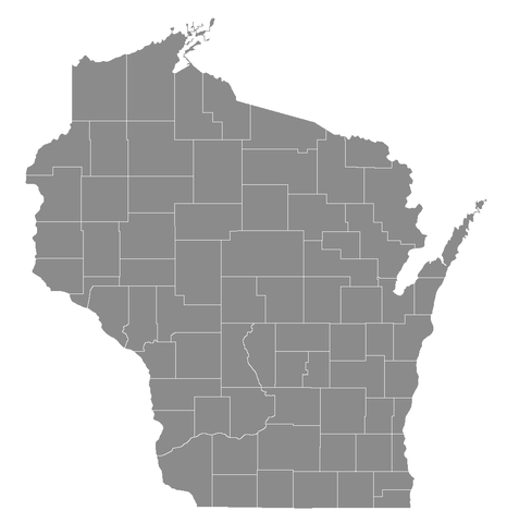 File:Wisconsin counties blank map, 2015.png - Wikimedia Commons