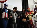 Wizard World Anaheim 2011 - Captain America, Wolverine, X-23, Iron Man (5674470467).jpg