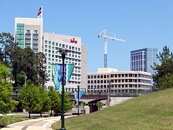 Skyline of The Woodlands, Texas