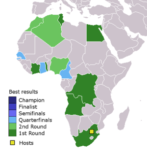 Football in Africa - Best results of African men's national teams at the FIFA World Cup