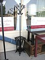 Wrought iron coat stand and umbrella stand (4858064613).jpg