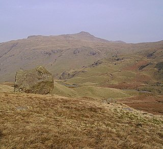 Wrynose Pass Fell in the Lake District, Cumbria, England