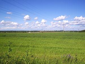 Yaroslavsky District, Yaroslavl Oblast - Landscape near the settlement of Zavolzhye in Yaroslavsky District