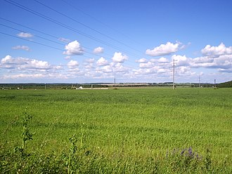 Yaroslavsky District, Yaroslavl Oblast - Landscape near the settlement of Zavolzhye in Yaroslavsky District