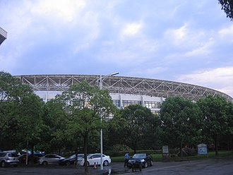 Yuanshen Sports Centre Stadium - Image: Yuanshen Sports Centre Stadium in 2013