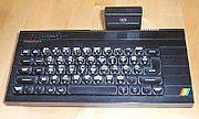 ZX Spectrum+ se zapojeným rozhraním pro joystick