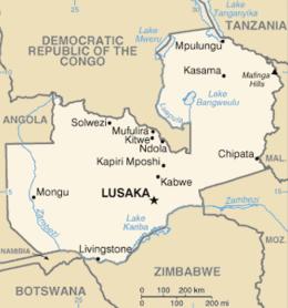 Zambia - Mappa