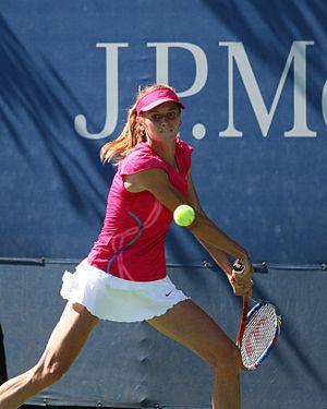 Zuzana Ondrášková - Ondrášková playing at 2010 US Open