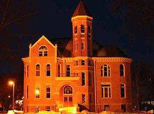 Northwestern College (Iowa) - This is Zwemer Hall, the oldest building on campus. It contains offices for the registrar, admissions, financial aid, president, and other administrative departments.