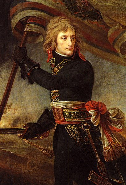 «®°·.¸.•°°®» نابليون بونابرت «®°°·.¸.•°®» 408px-1801_Antoine-Jean_Gros_-_Bonaparte_on_the_Bridge_at_Arcole
