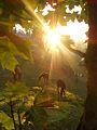 """""""Сонячна Снідавка"""" - присілок поблизу Терношорської Лади. Терношорська Гора на світанку. Коні в нічнім на паші.jpg"""