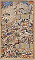 """""""Battle Between Iranians and Turanians"""", Folio from a Shahnama (Book of Kings) MET DP215755.jpg"""