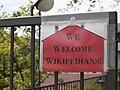 """We welcome wikipedians!"" in Esino Lario.jpg"