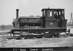 'Canopus' locomotive of Pentewan Railway used as RAF No 7.jpg