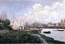 'Drying Nets', oil on canvas painting by Alfred Sisley, 1872, Kimbell Art Museum.jpg