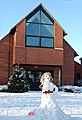 'Snowgirl' at Eathorpe village hall - geograph.org.uk - 1651176.jpg