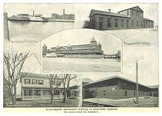 Ellis Island - Ellis Island buildings circa 1893