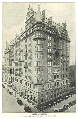(King1893NYC) pg223 HOTEL WALDORF, FIFTH AVENUE