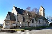 Église Saint-Aubin d'Ouilly-le-Tesson. Vue nord-est.jpg