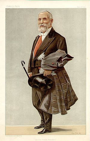 Émile Loubet - Loubet caricatured by Guth for Vanity Fair, 1899