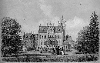 Edward Tesdorpf - Orupgaard drawn by Ferdinand Richardt in 1867