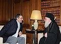 Αντώνης Σαμαράς - Συνάντηση με Αρχιεπίσκοπο Αλβανίας 7727797916.jpg