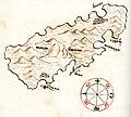 Χάρτης της νήσου Λοσίνι (Κροατία) - Millo Antonio - 1582-1591.jpg
